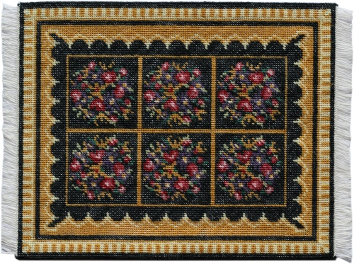 This doll's house carpet measures 6 x 8 inches, and is to be stitched on 18 count canvas with Appleton's crewel wool