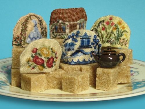 Doll's house tea cosies